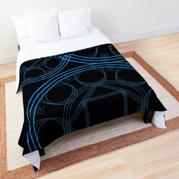 Black Mage Laylines Spell Comforter