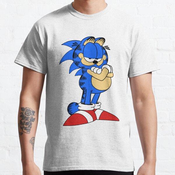 Blue Hedgehog Speed of Hero Sonic Stylish Digital Printing Short-Sleeved Shirt for Teenboys