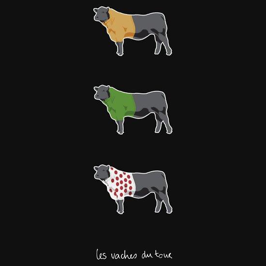 TShirtGifter presents: Les Vaches du Tour - dark