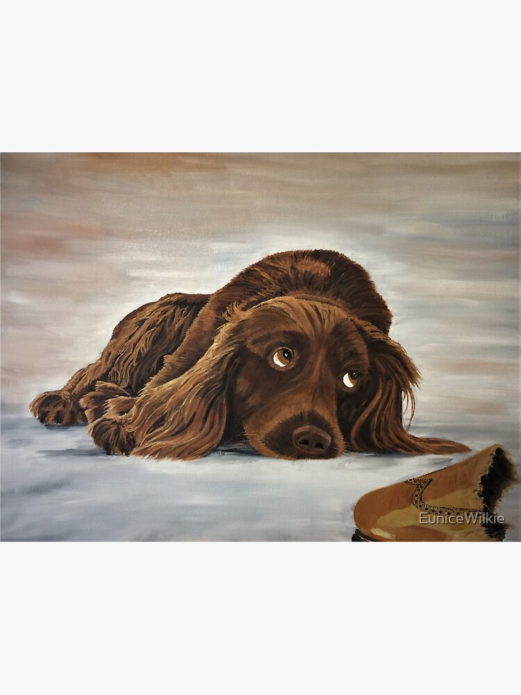 Naughty Spaniel - Wall Art by EuniceWilkie
