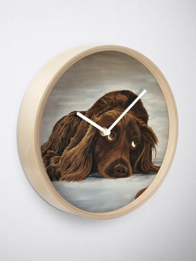 Alternate view of Naughty Spaniel - Clock Clock