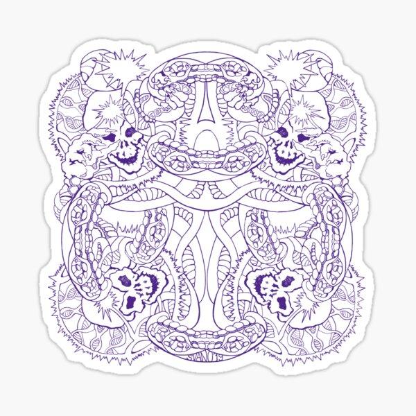 DNA Skulls: Purple Sticker