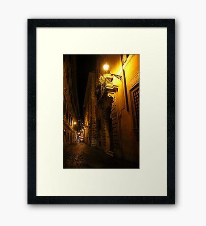 Via di Notte Framed Print