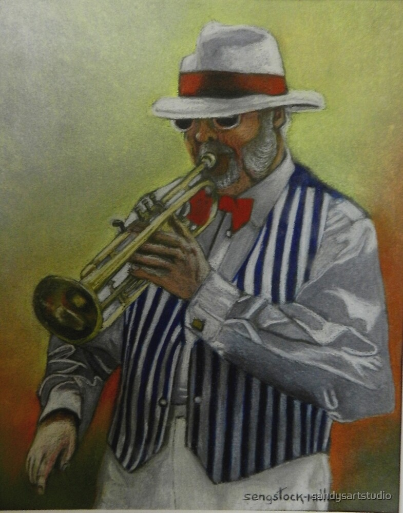 Music Man from Nelson new Zealand by sandysartstudio