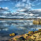 Kent Viaduct and Arnside Pier by Lilian Marshall
