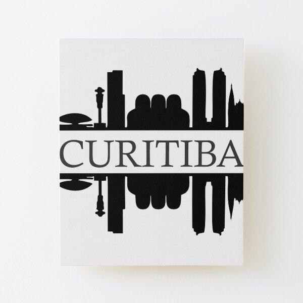 Curitiba Logo  Wood Mounted Print