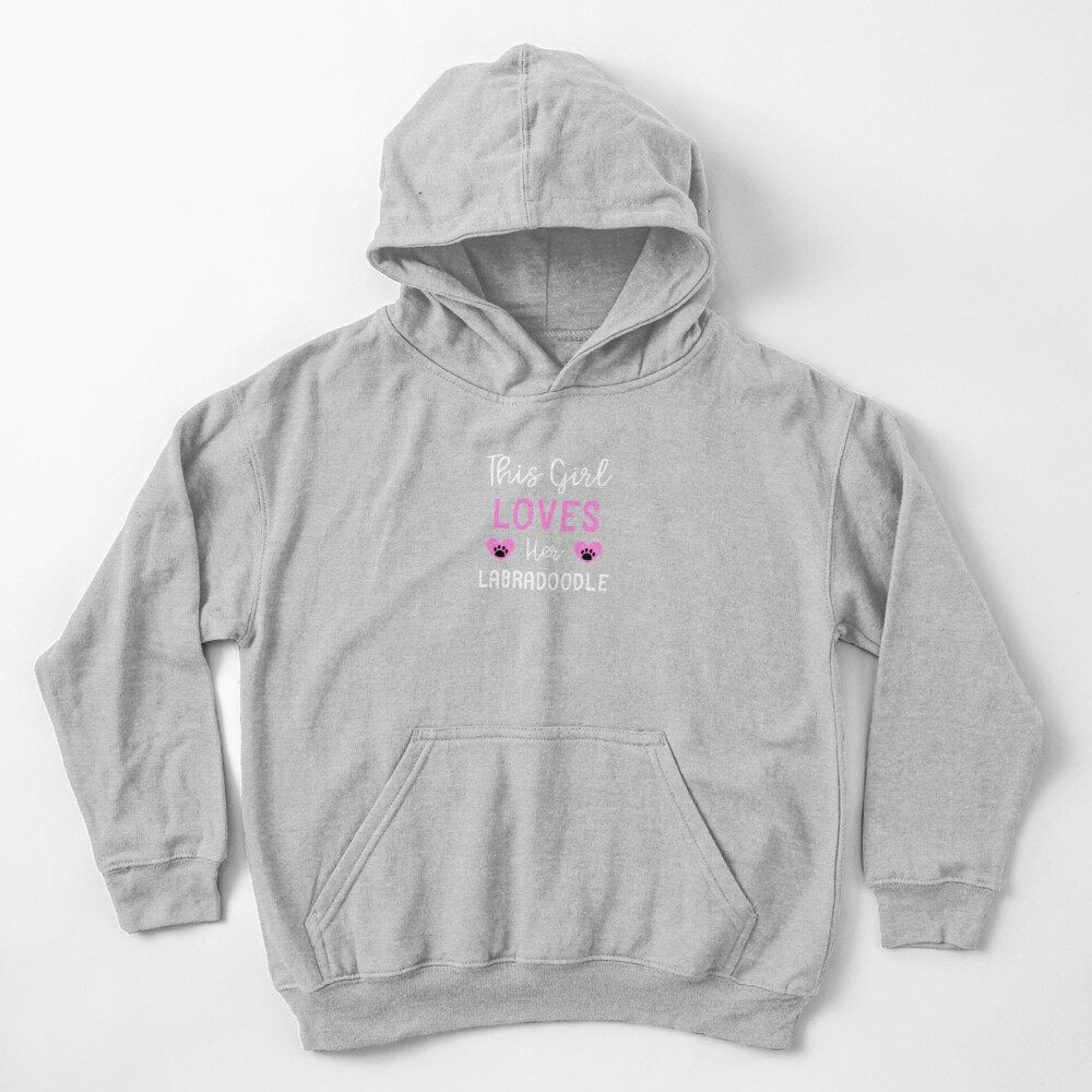 This Girl Loves Her Labradoodle - Labradoodle Gift Idea Kids Pullover Hoodie