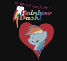 I have a crush on... Rainbow Dash - with text