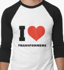 I love Transformers Men's Baseball ¾ T-Shirt