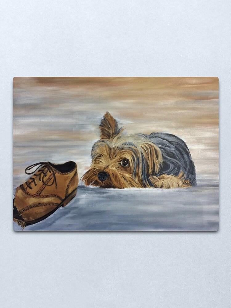 Alternate view of Naughty Yorkshire Terrier - Wall Art Metal Print