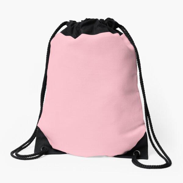 Pink, Pale Red Color Drawstring Bag
