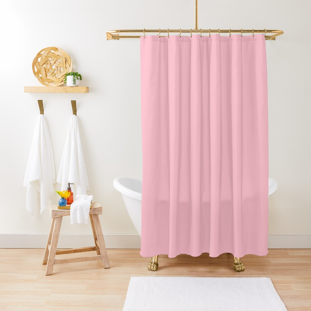 Pink, Pale Red Color Shower Curtain