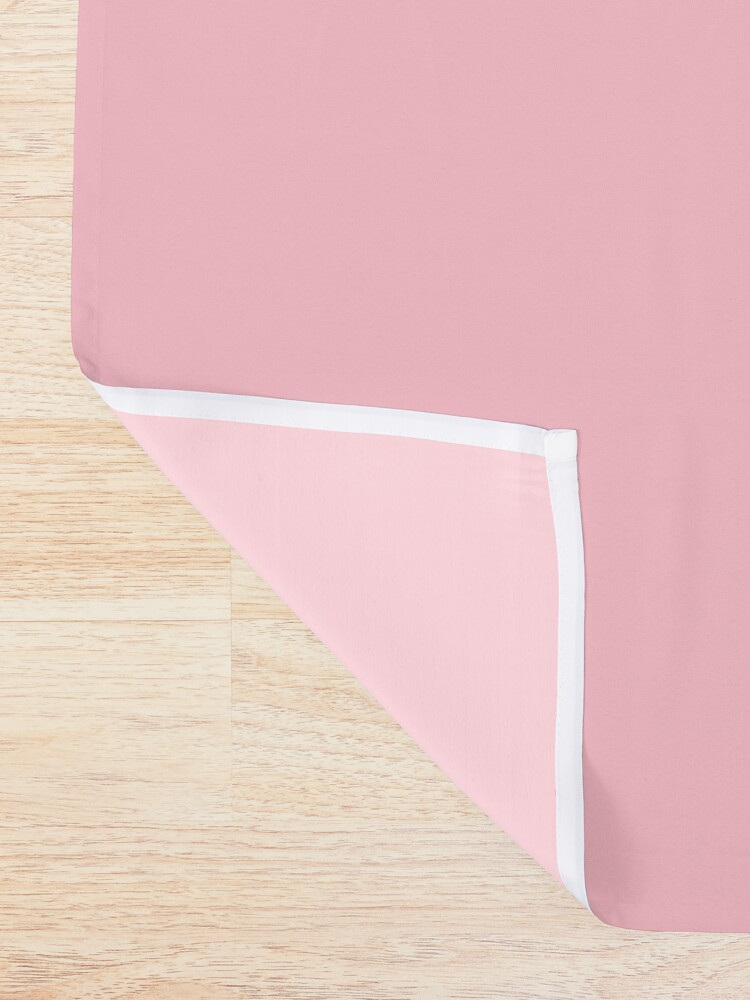 Alternate view of Pink, Pale Red Color Shower Curtain