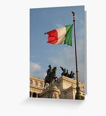 Italian Flag on Il Vittoriano Greeting Card