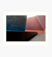 Within without sculpture interior Art Print
