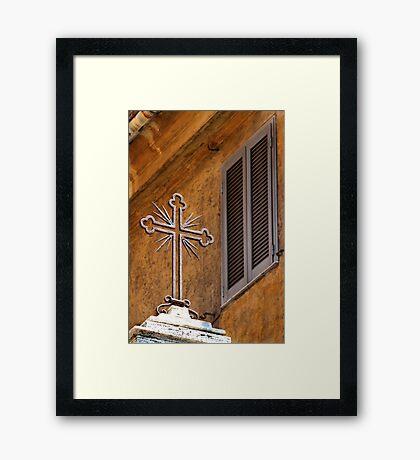 Cross and Window - Vatican City. Framed Print