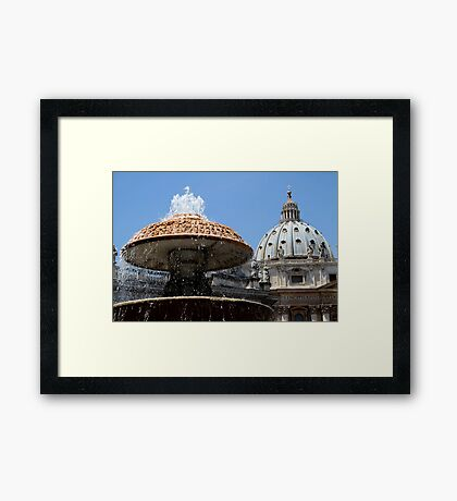 The Dome of St Peter's Framed Print