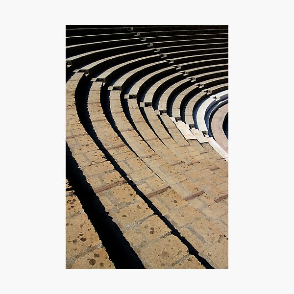 Seating - The Large Theatre - Pompeii Photographic Print
