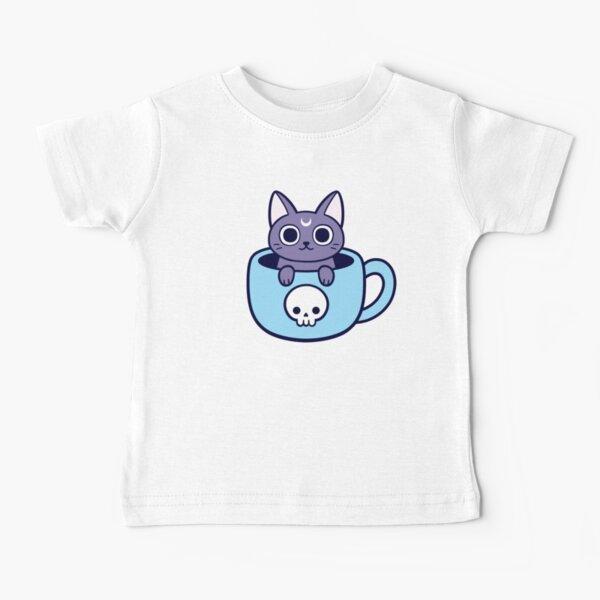 Black Magic Tea / Coffee Cat Baby T-Shirt