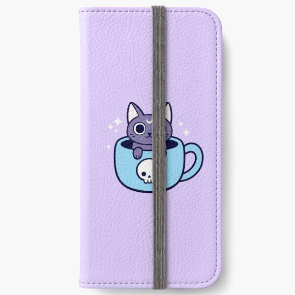 Black Magic Tea / Coffee Cat iPhone Wallet