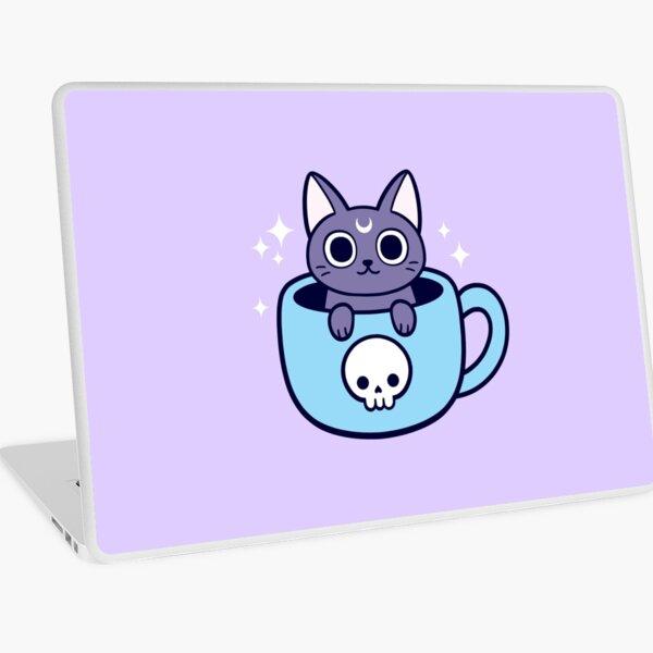 Black Magic Tea / Coffee Cat Laptop Skin