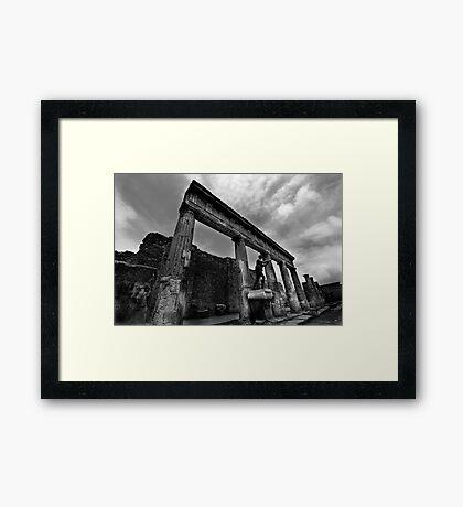 Temple Ruins - Pompeii Framed Print