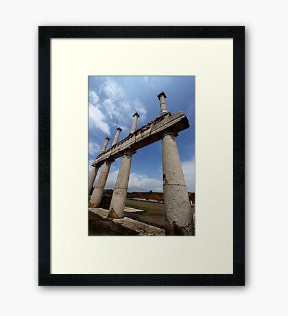 Pillars in Pompeii Framed Print