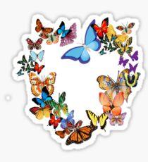 Butterfly Hearth Sticker