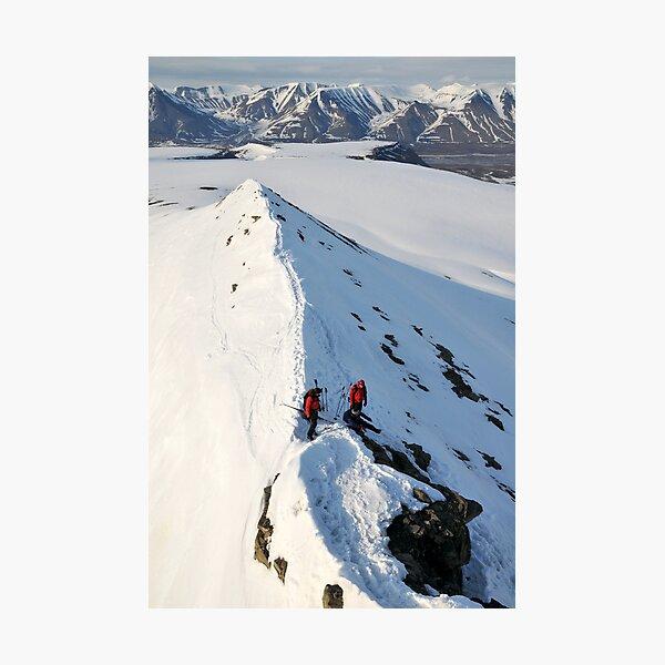 Looking down from Trollsteinen Photographic Print