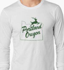 Portland Oregon Sign in Green T-Shirt