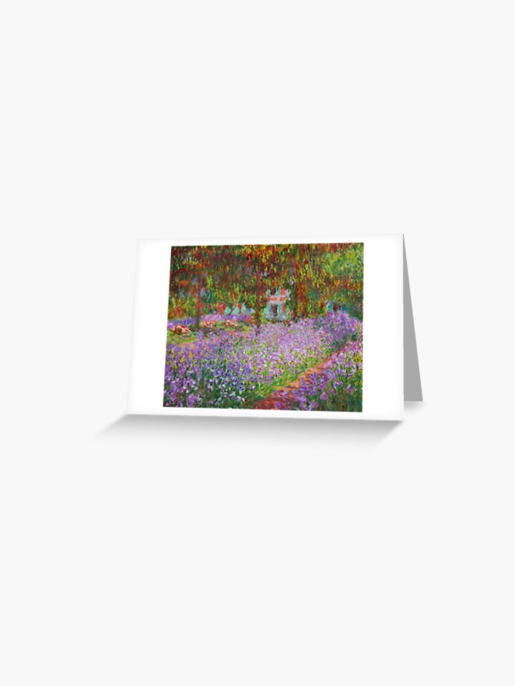 Claude Monet The Iris Garden At Giverny 1899 1900 Greeting Card