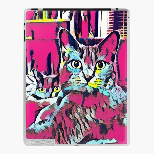 CATS AMERA AND GRACE - PINK iPad Klebefolie