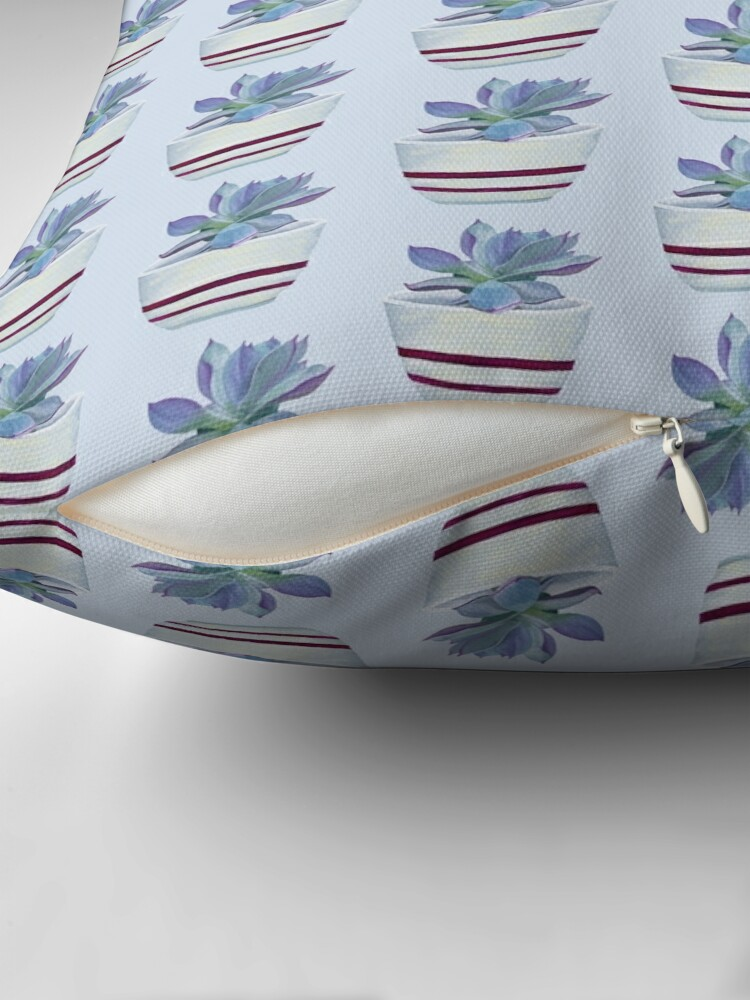 Alternate view of Succulent in a Striped Pot (no background) Floor Pillow