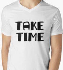 Take Time Men's V-Neck T-Shirt