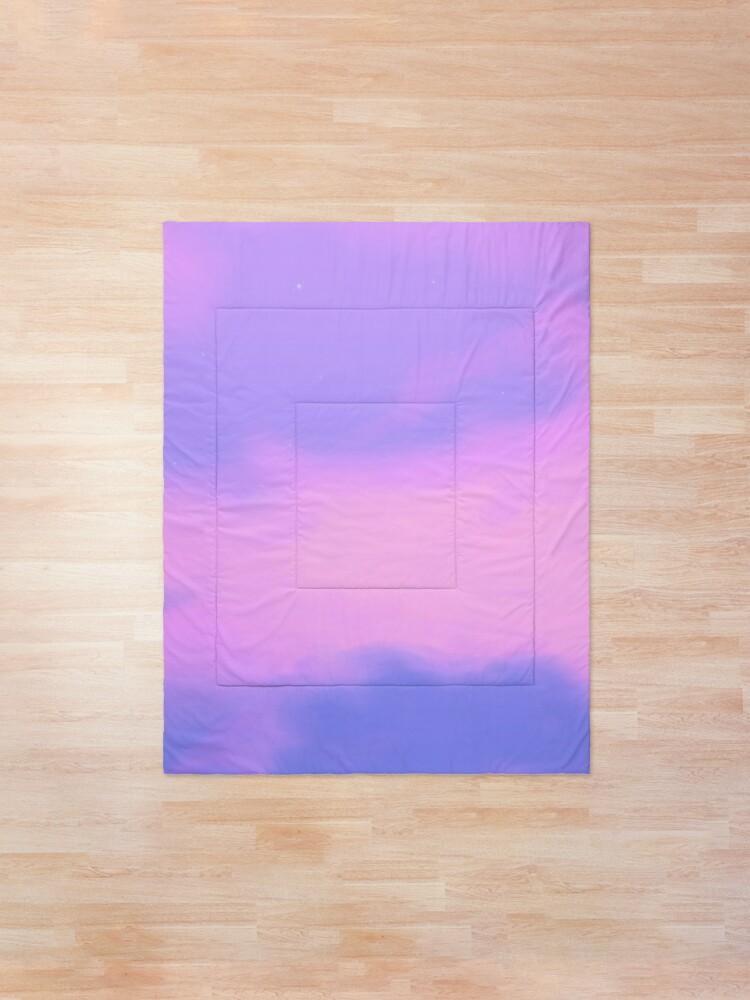 Lo Fi Aesthetic Purple Sky Comforter By Trajeado14 Redbubble