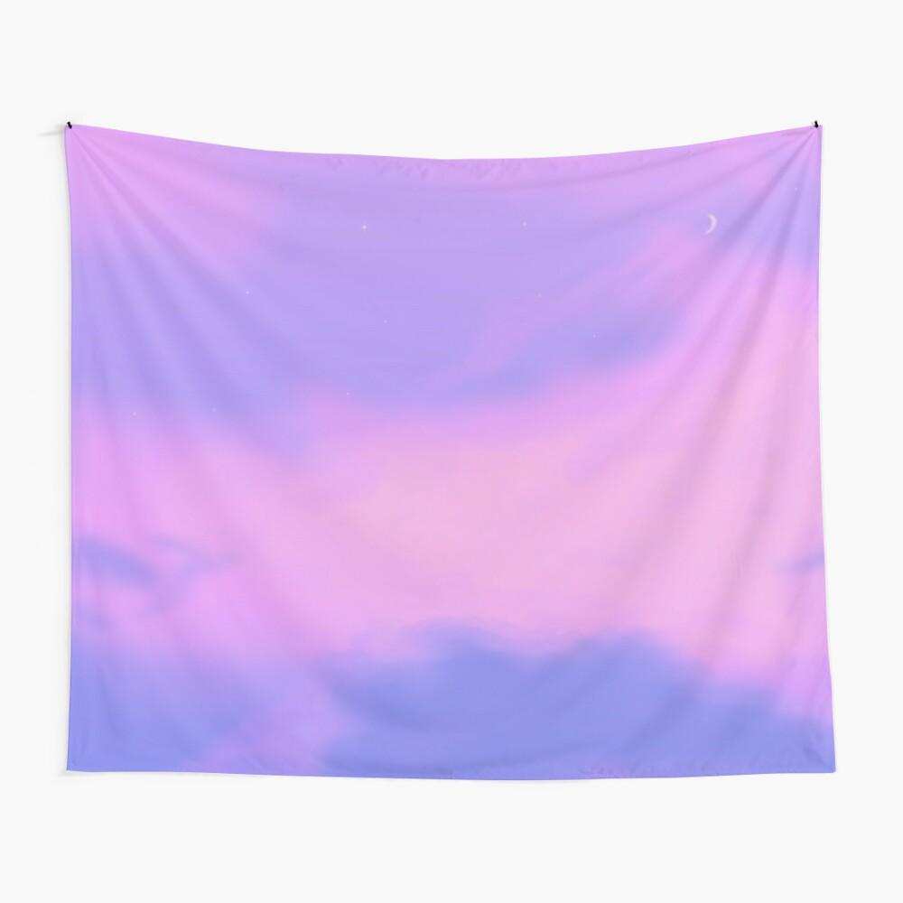 Lo Fi Aesthetic Purple Sky Tapestry By Trajeado14 Redbubble
