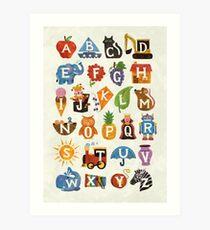 Alphabet Kunstdruck