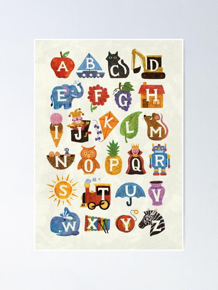 Alternate view of Alphabet  Poster