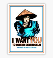 I Want YOU For Kombat Sticker