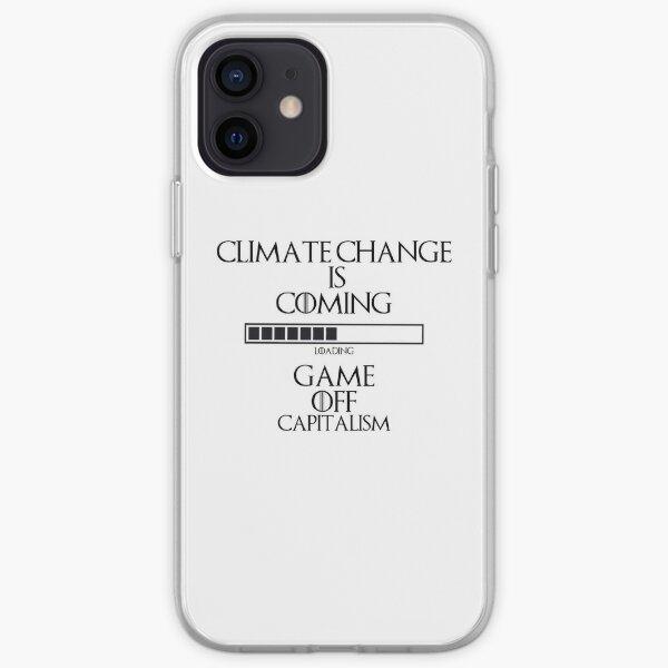 Klimawandel Spiel aus dem Kapitalismus iPhone Flexible Hülle