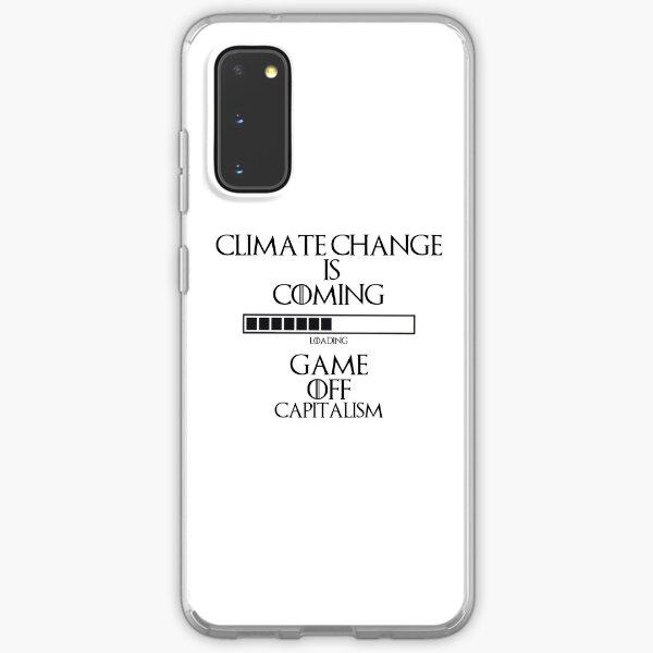 Klimawandel Spiel aus dem Kapitalismus Samsung Galaxy Flexible Hülle