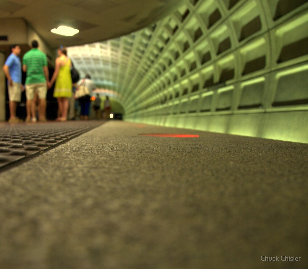 Waiting for the metro by Chuck Chisler