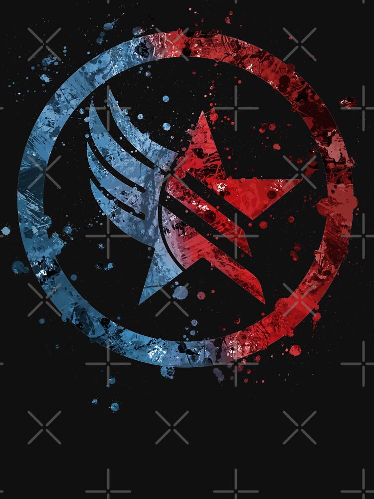 Mass Effect Renegade/Paragon Combo Splatter by jsumm52