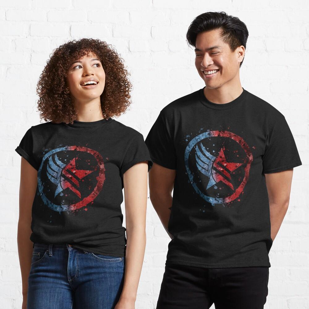 Mass Effect Renegade/Paragon Combo Splatter Classic T-Shirt