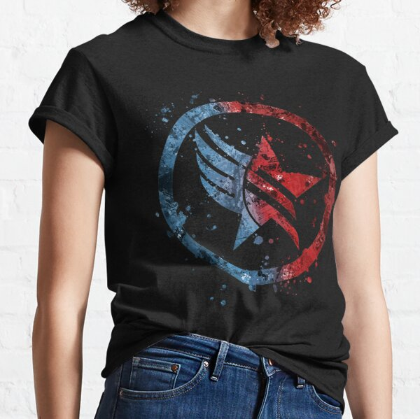 Mass Effect Renegade/Paragon Combo Splatter Classic T-Shirt