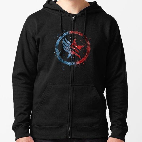Mass Effect Renegade/Paragon Combo Splatter Zipped Hoodie