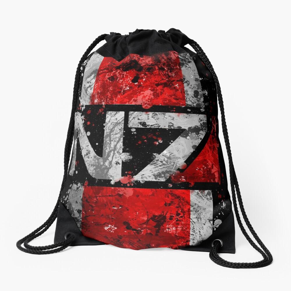 Mass Effect N7 Splatter  Drawstring Bag