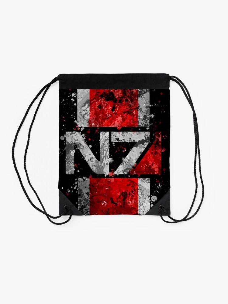 Alternate view of Mass Effect N7 Splatter  Drawstring Bag
