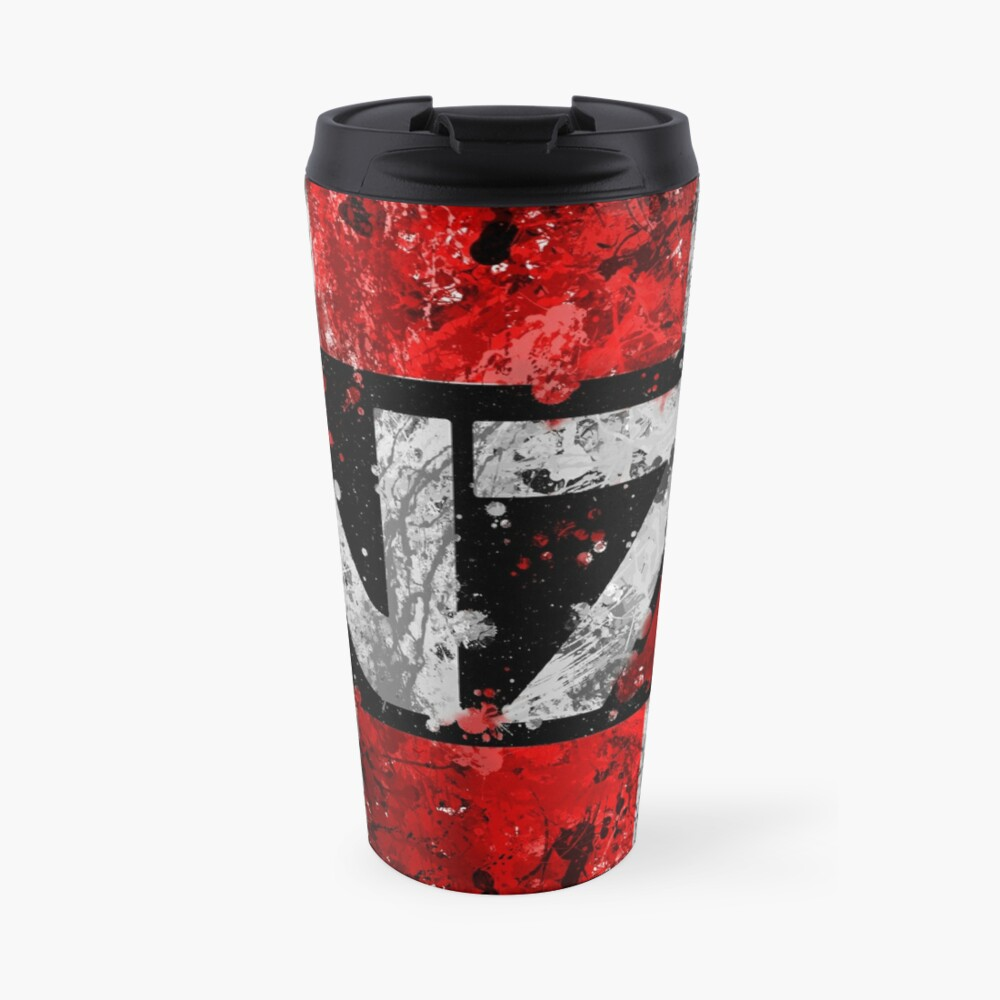 Mass Effect N7 Splatter  Travel Mug