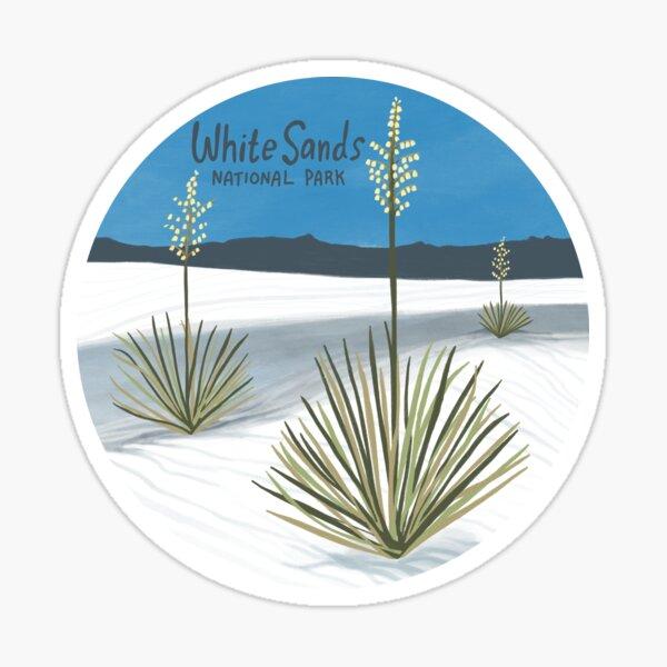 White Sands National Park New Mexico Illustration Circle Sticker